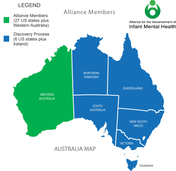 Alliance for the Advancement of Infant Mental Health - Map of Australia Members