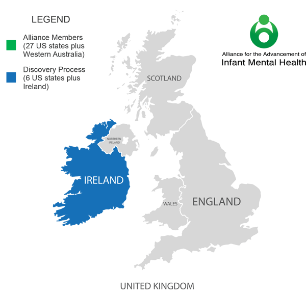 Alliance for the Advancement of Infant Mental Health - Map of Ireland Members