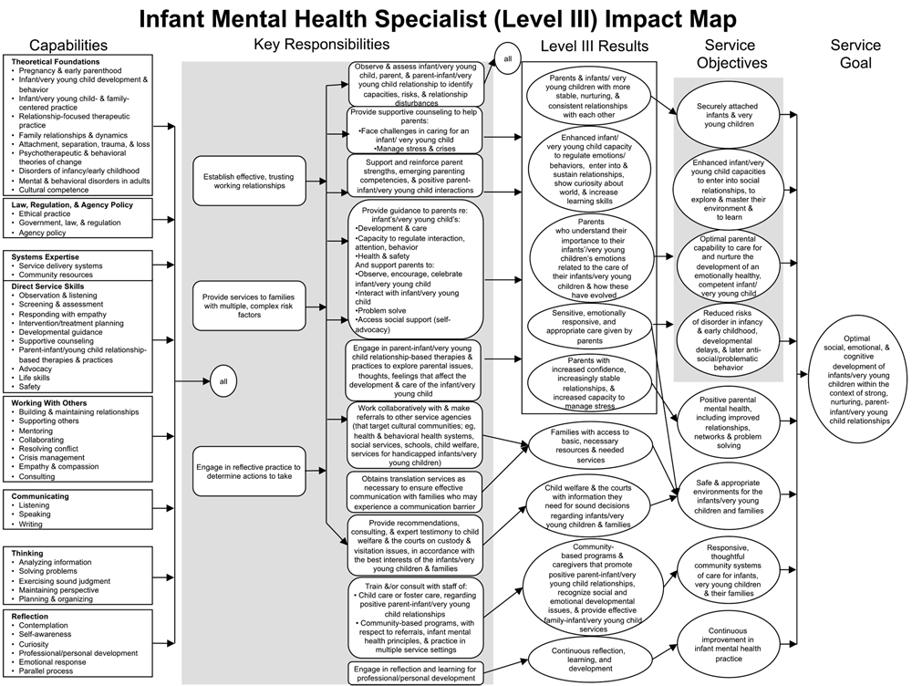 MassAIMH Competency Guidelines - Level 3 Impact Map