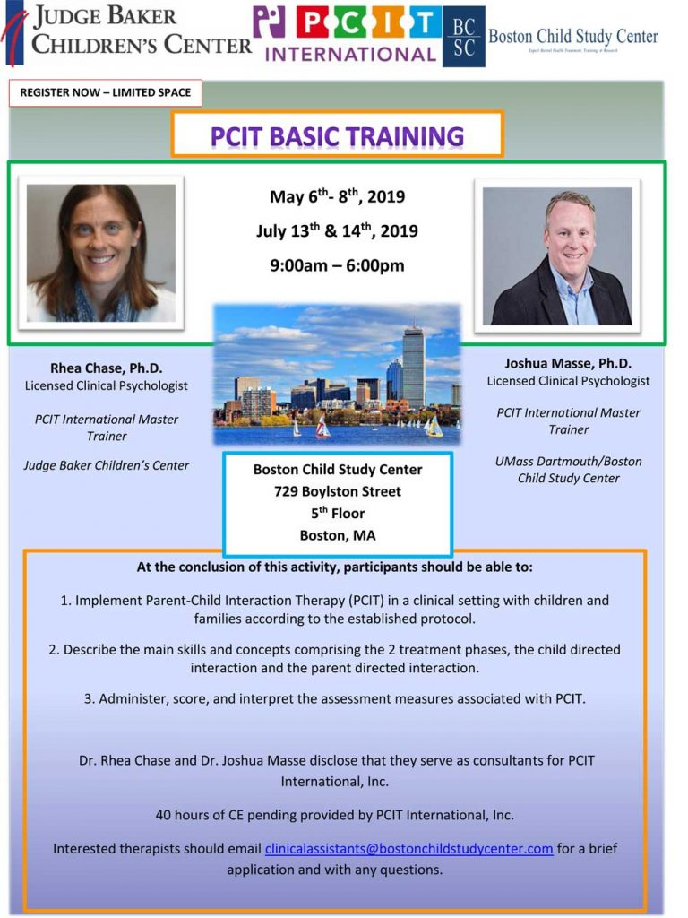 PCIT Training flyer