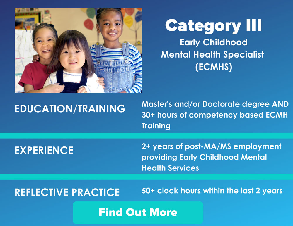 Category III Early Childhood Mental Health Specialist (ECMHS)
