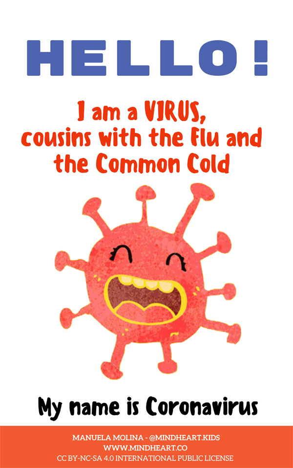 Cover of I am a Virus and my name is Coronavirus